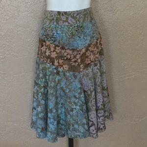 Santiki Boho Hippie Midi Skirt L
